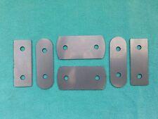 2 Porte Morris Minor Front Door Striker Plaque & Loquet PIN Shim Kit inoxydable 1 mm