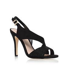 Kurt Geiger Miss KG Black Suede Diamante High Heel Sandals Size 6 39 RRP £85 NEW