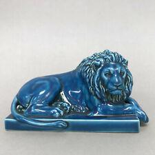 Royal Copenhagen Art Pottery Blue Lion by Thorvaldsen