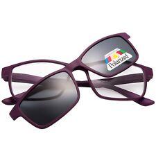 EYEGUARD Magnetic Reading Glasses Clip on Polarized Sunglasses Readers Plastic