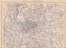 Rom und Umgegend Roma alter Plan von 1886 Forts Sieben Hügel Roms