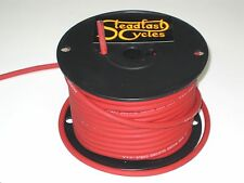 1' RED spark plug wire 8.5 mm inductive core silicone electronic ignition