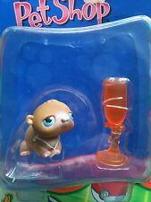 Littlest Pet Shop #45 Baby Hamster Brown watter bottle Exclusive Set New 2004