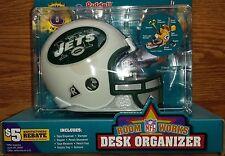NY NEW YORK JETS NFL RIDDELL DESK ORGANIZER MINI HELMET~SEALED CASE OF 4~RARE!!!