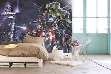 Wall Mural photo Wallpaper Avengers Heroes Large mural interior KIDS ROOM xmas
