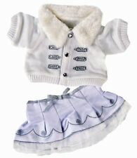 """Winter white & silver outfit teddy bear clothes fits 15"""" Build a Bear"""