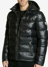 GUESS Men's Puffer Jacket Removable Hood - Black- NEW 100% Original With Tags