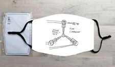 Flux Capacitor Drawing face mask (Back to the Future, Doc Brown, Marty McFly)