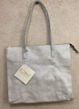 Donna Karan DK Cashmere Collection Shoulder Tote Bag / Shopper -  Cream / Silver