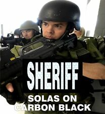 "SHERIFF REFLECTIVE SOLAS ON BLK solasX PATCH 3.5""X2"" WITH VELCRO® BRAND FASTENER"