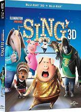 PRE ORDER : SING (Disney) - 3-D & 2D BLU RAY  - Sealed Region free