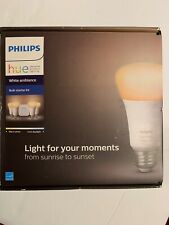 Philips 471986 Hue White Ambiance Starter Kit - 4 Bulb Pack & Bridge