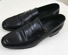 TOD'S Mens Black Leather Penny Loafers Slip On Shoes Made In Italy Size 6 A
