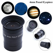 """1.25"""" 4mm Plossl Fully Coated Optical Glass Eyepiece Black For Telescope DH"""