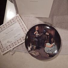 Collector Plate #8 Rockwell's Heritage Collection The Storyteller Cp-66
