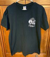 Porky's Mercer WI Men L Tee T Shirt Black Biker Bar Go Hog Wild POW MIA