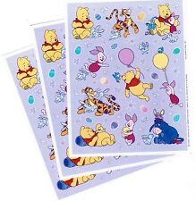 3 Sheets Disney Winnie the POOH Scrapbook Stickers! Easter Eggs Tigger Piglet