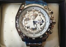 NEW MEN'S CASIO EDIFICE RED BULL EF550D-7AV WHITE STAINLESS STEEL WATCH WITH TAG