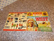 ALBUM LA VERA STORIA DEL WEST EDIS 1968 COMPLETO(-2 ADESIVI)MB/OTT+INSERTO IDOLI