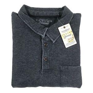 Lucky Brand Venice Burnout Polo XL Classic Fit Short Sleeve Pocket Cotton Blend
