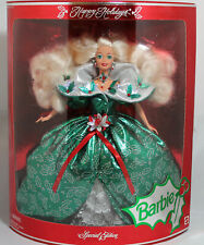 Barbie 14123 damaged box 1995 Happy Holidays Doll