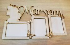 personalised 3 photo Frame with cut out name, child, baby room