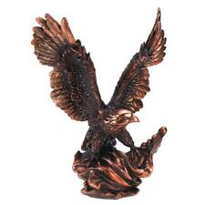 Eagle In Flight Statue Bronze Color Bird Figurine Art Table Desk Shelf Decor