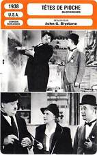 FICHE CINEMA : TETES DE PIOCHE - Stan Laurel,Oliver Hardy 1938 Block-Heads