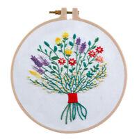 Kreuzstick Stickpackungen vorgedruckt Set Blumen Stickvorlage zum selber Sticken