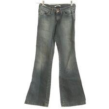 Mavi Chloe Jeans 26/32 Flare Super Low Rise Wide Stitch Faded Stretch B129