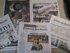 3 Pack of Penguins 2017 Newspapers - Conference, Stanley Cup, Parade editions