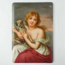 Antique Hutschenreuther German Porcelain Plaque Hand Painted Portrait Cmhr Mark