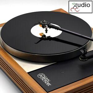 Gloss Black & Mirror Acrylic Turntable Platter Mat. Fits LINN Record Player