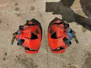 VAUXHALL CORSA VXR FRONT CALIPERS COMPLETE PAIR D MODEL 2007