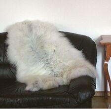 Heitmann Felle wuschliges Nordlandschnuckenfell weiß meliert, ca. 125 cm lang