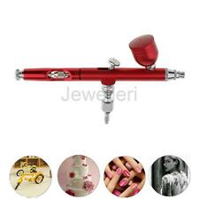 Dual Action Gravity Feed Airbrush Gun 0.3mm Spray Art Paint Tattoo Nail Tool