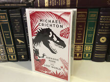 Jurassic Park & The Lost World by Michael Crichton - leather-bound