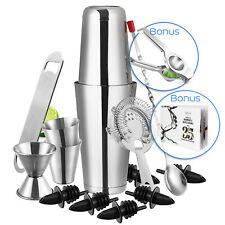 16pc Bartender Kit Complete Cocktail Shaker Bar Tool Set With Lemon Squeezer