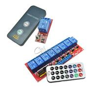 1/8 Channel Infrared Remote Control Switch Relay Multi-function 5/12V LED New