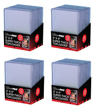 (100 / 4 Packs) Ultra Pro Super Thick 75pt Toploader Card Holders Jersey Patch