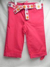 NWT GYMBOREE Girls Pink Capri Pants w/White Flower Belt Sz (7) 70530