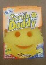 Scrub Daddy Yellow Smiley Face Kitchen Cleaning Soft Firm Dish Sponge Scrubber