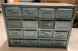 Rota Chest Of Draws Vintage Australian Workshop Tin Tool Box