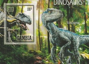 Small Block Dinosaur Gambia Mint Unperforated 2583