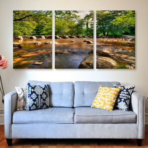 Tarr Steps Tryptich Canvas