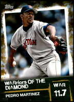Pedro Martinez 2020 Topps WARriors of the Diamond 5x7 Gold #WOD-23 /10 Red Sox