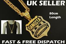Gangster Necklace Gangsta Chain Hip Hop Iced Out Rapper Ice Jewellery Bling
