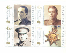 Australia-Last Anzacs mnh set - Military-Victoria Cross-2000