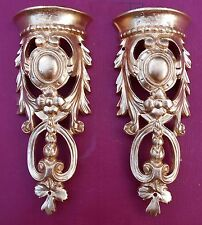 2 Metal ormolu corners pediments (#10) for fancy furniture. Mounts/decoration.