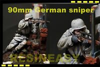 WWII German Sniper 1944 90 mm (1/18) High Quality Resin soldier Full Kit Set